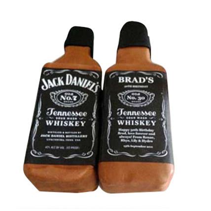 Designer Jack Daniels Fondant Cake
