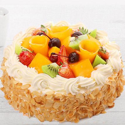 Delicious Fruit Cream Cake