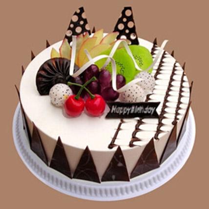 Fresh Fruit Chocolate Cake