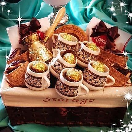 Coffee N Ferrero Rocher Basket