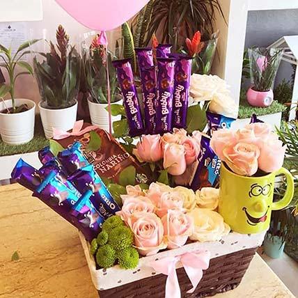 Delightful Coffee N Chocolate Basket