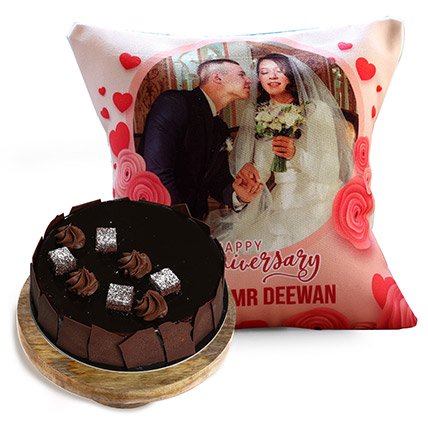 Anniversary Cushion and Choco Sponge Cake