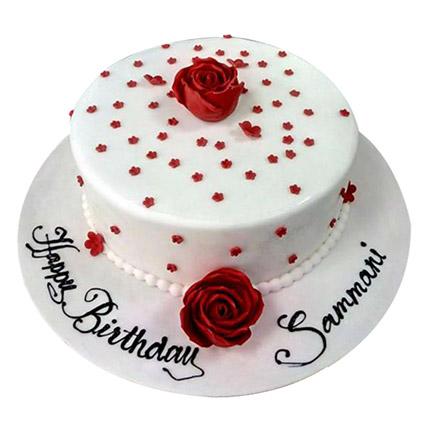 Astounding Birthday Cake With Flowers In Uae Gift Birthday Cake With Personalised Birthday Cards Cominlily Jamesorg