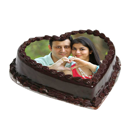 Cake From The Heart 2 Kg Truffle Cake
