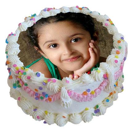 Dreamy Photo Cake 2 Kg Vanilla Cake