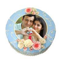 Round Photo Cake 3 Kg Pineapple Cake