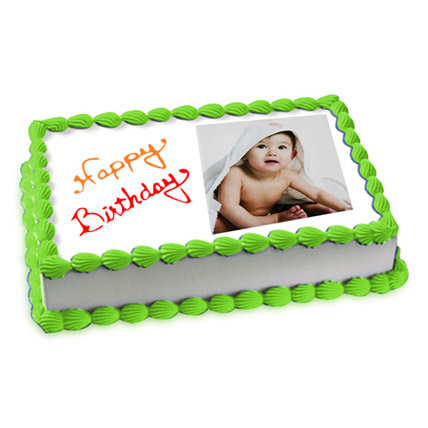 Welcoming Photo Cake Eggless 2 Kg Butterscotch Cake