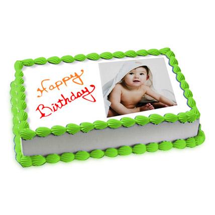 Welcoming Photo Cake Eggless 2 Kg Truffle Cake