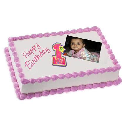 Yummylicious Photo Cake 1 Kg Vanilla Cake