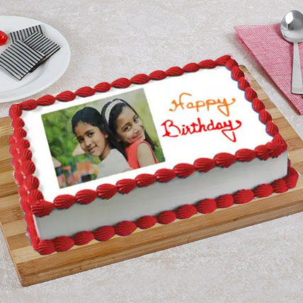 Celebration Photo Cake 1 Kg Black Forest Cake