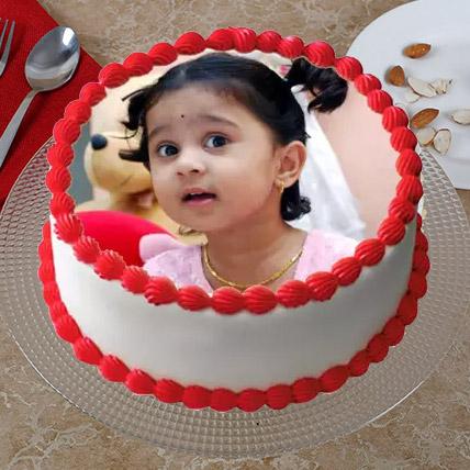 Creamy Photo Cake 3 Kg Vanilla Cake