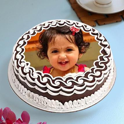 Decorative Photo cake 3 Kg Butterscotch cake