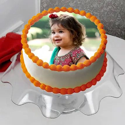 Delectable Photo Cake 3 Kg Vanilla Cake