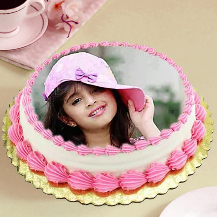 Heavenly Photo Cake 3 Kg Vanilla Cake