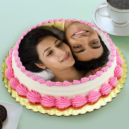Personalized Cream Cake Eggless 1 Kg Pineapple Cake