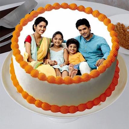 Sizzling Round Personalized Cake 1 Kg Truffle Cake