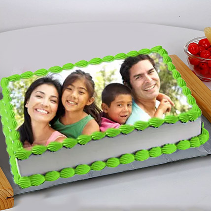 Special Photo Cake Eggless 1 Kg Butterscotch Cake