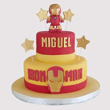 Pleasant Designer Iron Man Vanilla Cake In Uae Gift Designer Iron Man Funny Birthday Cards Online Fluifree Goldxyz