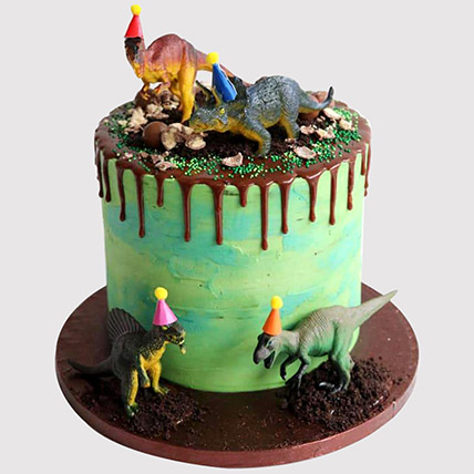 Brilliant Dinosaur Party Chocolate Cake In Uae Gift Dinosaur Party Personalised Birthday Cards Bromeletsinfo