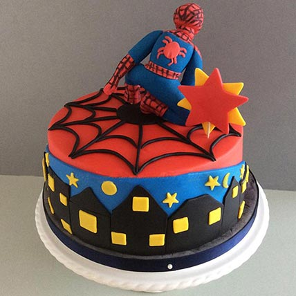 Spiderman 3D Marble Cake