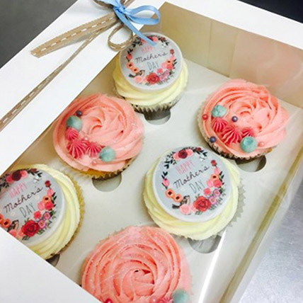 Pink and White Choco Cupcakes