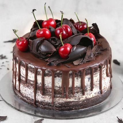 Delicate Black Forest Eggless Cake- 1 Kg
