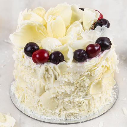 Heavenly White Forest Cake- 1 Kg