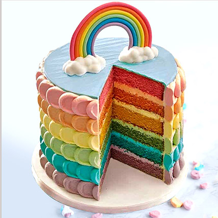 Fondant Rainbow Vanilla Buttercream Cake