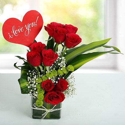I LOVE YOU Flower Arrangement OM