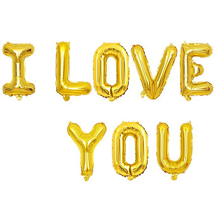 I Love You Balloon Set