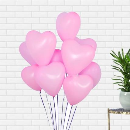 Pink Heart Shape Balloons