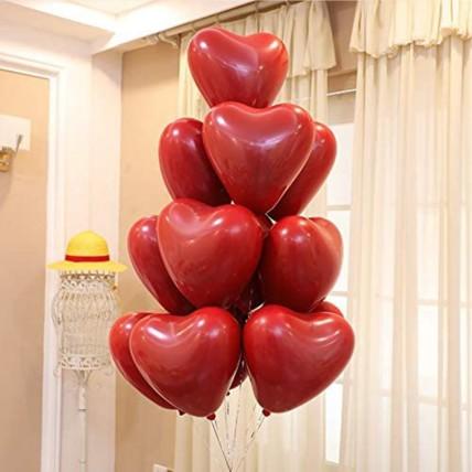 Red Heart Shape Balloons