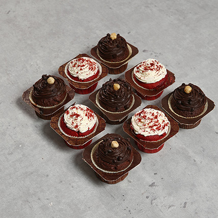 9 Assorted Cupcakes