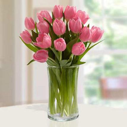 Pink Tulips Arrangement QT