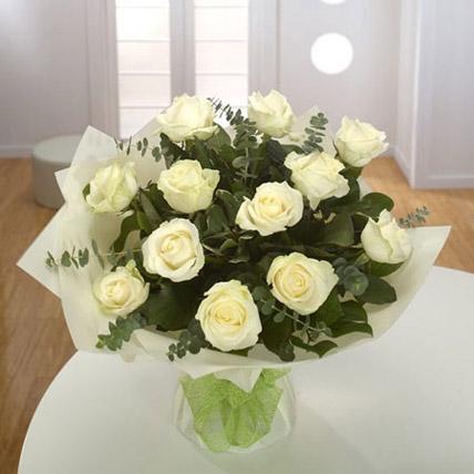 White Roses Bouquet QT