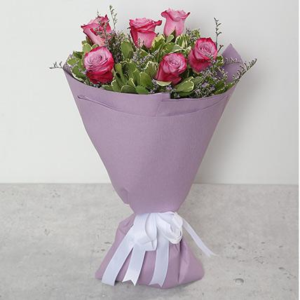 Bouquet Of Purple Roses QT