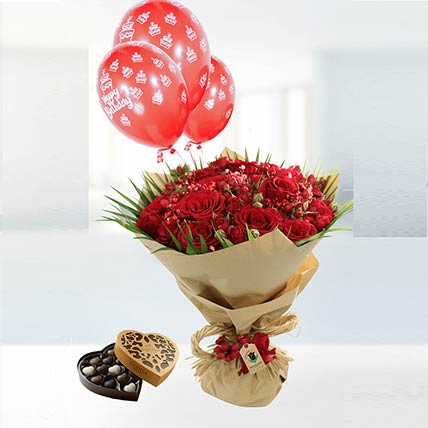 Birthday Wishes Flower Combo