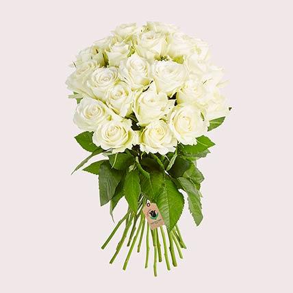 Graceful White Roses
