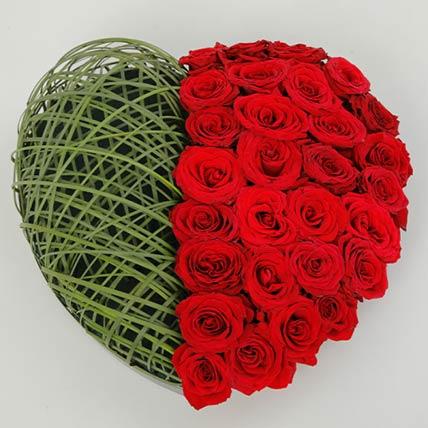 Lovely Red Roses Arrangement