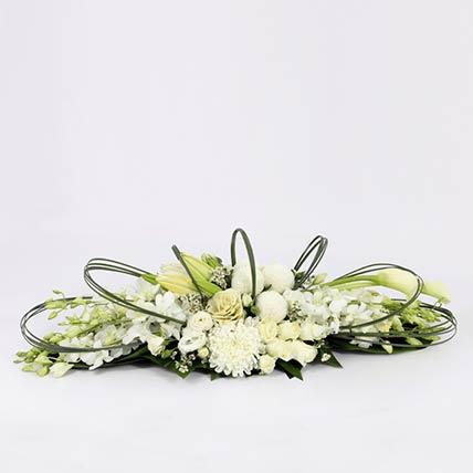 White Flower Themed Arrangement- Deluxe