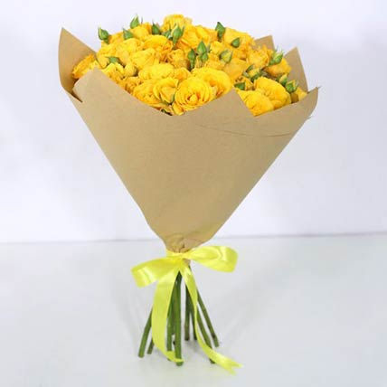 10 Stems Of Yellow Spray Roses Bouquet