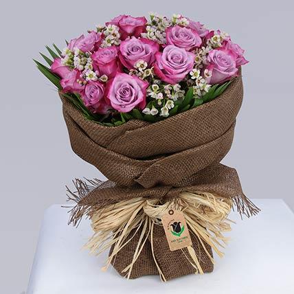 30 Deep Purple Roses Bouquet