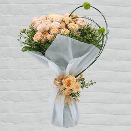 30 Stems Loving Peach Roses Bouquet