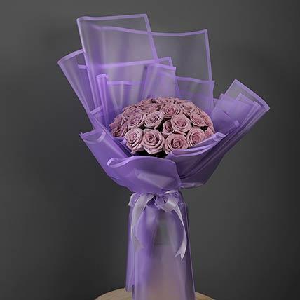 30 Stems Purple Roses Bouquet