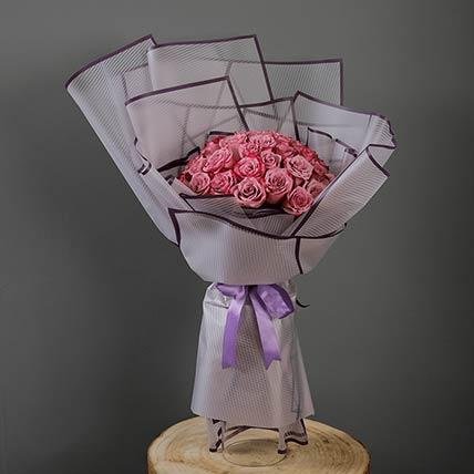 40 Stems Deep Purple Roses Bouquet