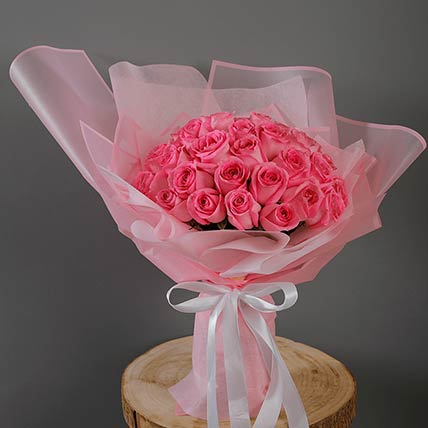 40 Stems Pink Roses Bouquet