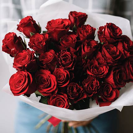 50 Luxury Red Roses Bouquet