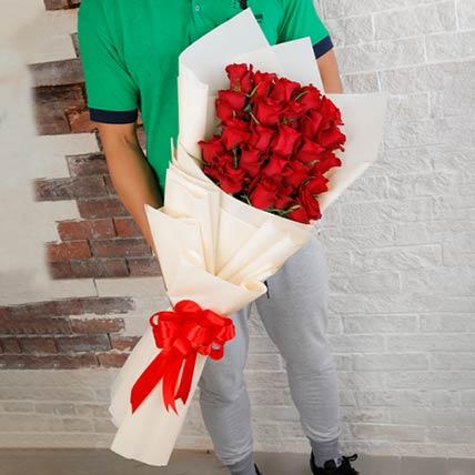 50 Precious Red Roses Bouquet