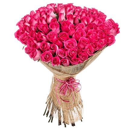75 Elegant Pink Roses Bouquet