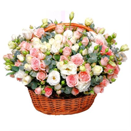 Basket Of Mesmerizing Flowers- Premium